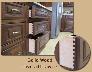 Solid Wood Dovetail Drawers